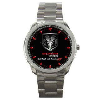 New Dodge Ram 1500 Logo Custom Mens Sport Metal Watch