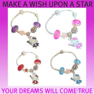 CHILDRENS/KIDS CHARM BRACELET MAKE A WISH UPON A STAR YOUR DREAMS WILL