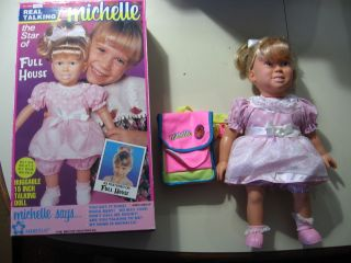 Talking Michelle doll, from Full House, w/box, manual, works great