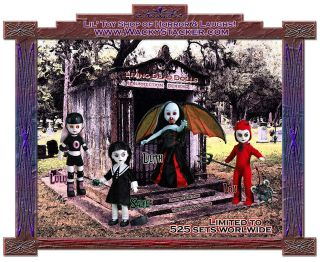 Living Dead Dolls Series 2 Resurrection Set Sadie Lulu Lilith Lou