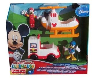 Price Mickey Mouse Club House Goofy & Donalds Air/Helicopter Ambulance
