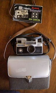 VINTAGE KODAK INSTAMATIC 804 CAMERA + MANUAL + CASE PURCHASED 1969