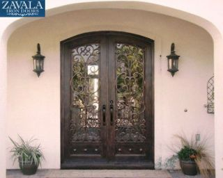 Newly listed Wrought Iron Doors, Arched Double Door DD68011