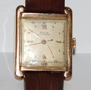 Art Deco Swiss Doxa Rose Gold Gents Working Wristwatch Estate c.1930