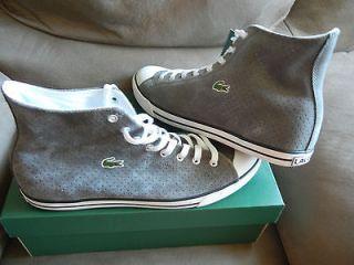 Lacoste L27 HI 16 SRM SDE Suede Mens Shoes Size 12 Dark Grey 7