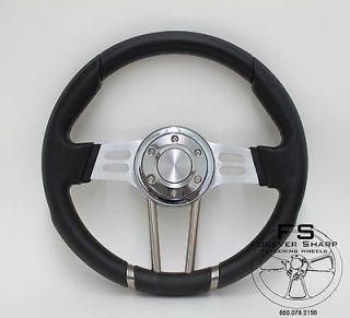 Yamaha Golf Cart Rhino Drifter 14 Aluminum Black Vinyl Steering Wheel