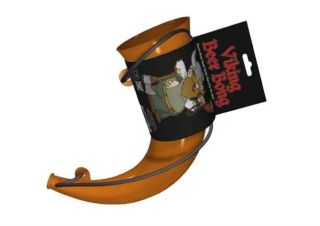 Viking Beer Bong Party BBQ Drinking Horn Game Bar Accessory