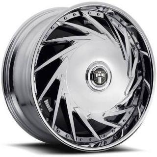 32 DUB SPIN Da U Wheel SET 32x10 Chrome Rims for RWD 5 & 6 Lug