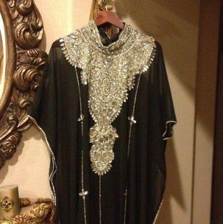 Black Abaya Kaftan Khaleeji Abaya Handmade Dubai Abaya