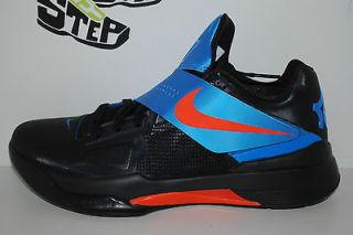 Nike Zoom KD IV Away OKC Thunder Black/Blue/Orange Kevin Durant DS 4