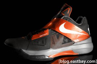 KD IV BLACK ORANGE MEN NIKE kevin DURANT IV size 8   10.5 4 473679 005