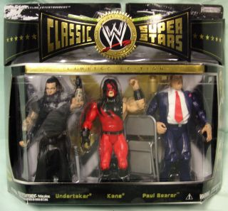 WWE Classic THE UNDERTAKER & KANE & PAUL BEARER 3 Pack Figures MOC WWF
