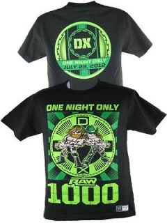 WWE Authentic Raw 1000 July 23 2012 DX D Generation X T shirt NEW