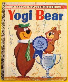 YOGI BEAR A Little Golden Book vg hb 1960 #395 1950 A Jellystone