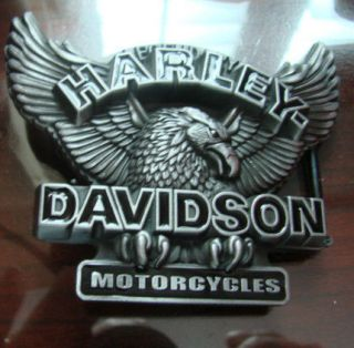 DUTY HARLEY DAVIDSON BELT BUCKLE EAGLE WITH 1/4 INCH RAISED LETTERS