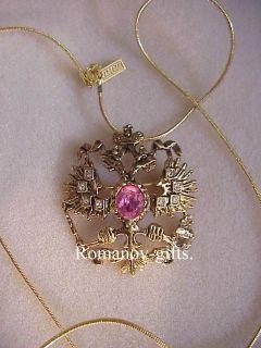 Faberge Double Head Eagle Romanov Necklace #295