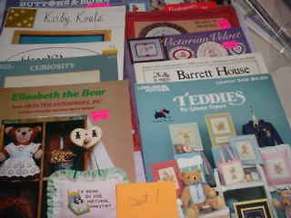 cross stitch needle point leaflets booklets Bears USED more