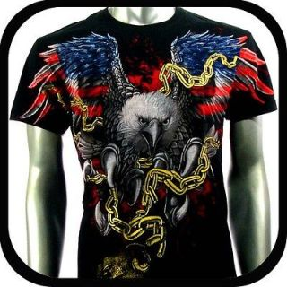 Artful Couture T Shirt Tattoo Eagle Rock Punk AB62 Sz M Indie Japanese