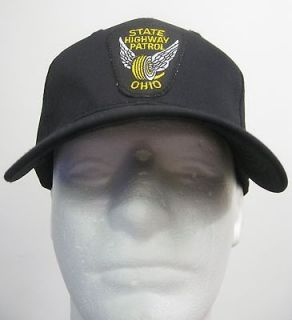 Black Ohio State Highway Patrol Police Patch BALL CAP/ HAT one size