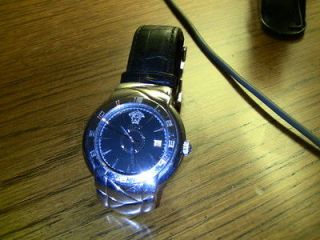 Versace watch for men, leather, sapphire crystal