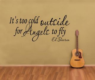 Ed Sheeran   Its Too Cold Outside For Angels To Fly   Wall Art