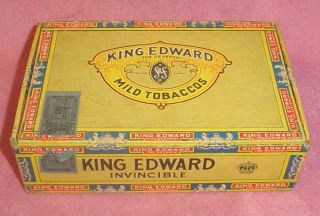 Vintage King Edward the Seventh Invincible Cigar Box