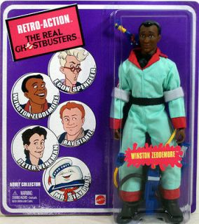 Real Ghostbusters WINSTON ZEDDEMORE Retro Action figure Mattel NIP