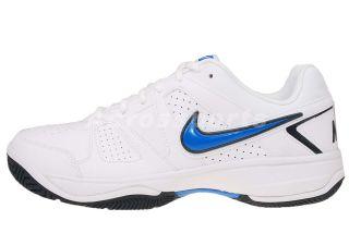 Nike City Court VII White Signal Blue Mens Tennis Shoes 488141 109