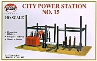 HO Scale Model Power City Electric Power Station Building Kit   well