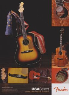FENDER KINGMAN ACOUSTIC CALIFORNIA SERIES GUITAR AD
