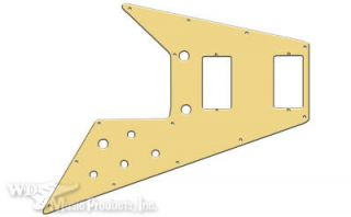 NEW   Pickguard For 67 Reissue Series Gibson Flying V, 1 Ply   CREAM