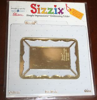 SIZZIX Simple Impressions Embossing Folder Picture Frame Rectangle #2