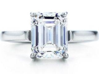 DEAL 1.6 CT EMERALD CUT SOLITAIRE DIAMOND ENGAGEMENT RING GAL CERT H