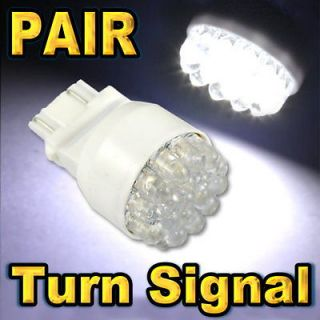 SUPER WHITE 3157 3057 19 LED FRONT TURN SIGNAL LIGHT BULBS #F19