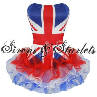 LADIES NEW UNION JACK BRITISH SPICE GIRLS FANCY DRESS PARTY OUTFIT