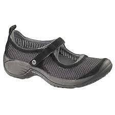 womens MERRELL encore black strap mary jane comfy athletic shoe