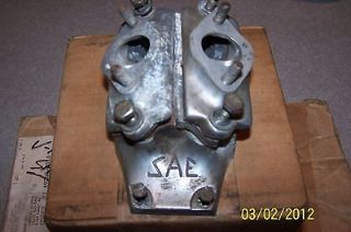 kart racing SAE v 16 dual carb intake for McCulloch kart engines used