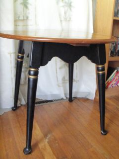 Vintage Ethan Allen Hitchcock Accent 27 Round Table