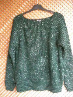 SWEATER BOTTLE GREEN wool metalic etoile isabel Marant sz M/L