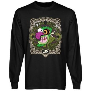 Courage the Cowardly Dog Eustace Border Long Sleeve T Shirt   Black