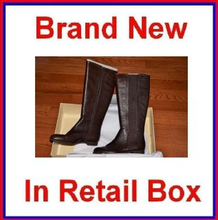 New Sofft Casoria Womens Knee High Leather Boots Brown 7.5 8 8.5 9 9.5