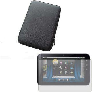 Black Hard Eva Shell Case Cover+Screen Guard Protector for Dell Streak