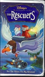 Walt Disney The Rescuers (VHS, 1999, 1999 Re Release) Clam Shell Case