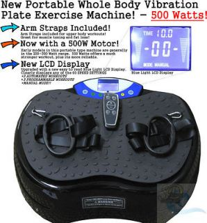 Body Power Vibration Vibe Plate Exercise Machine Foot Massager   500W