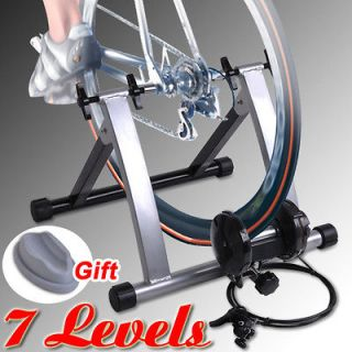 Bicycle Trainer + Block Stationary Indoor Exercise Bike Stand