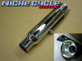 Chrome Moorcycle Exhaus Muffler Shory 12 Universal