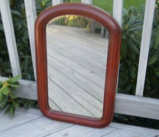 VINTAGE LARGE OLD VICTORIAN 1800s CHERRY or MAHOGANY WOOD WALL MIRROR
