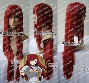 FAIRY TAIL ERZA Costumes Cosplay Wig Long Straight Wigs + Hairnet