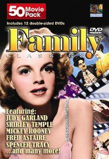 Family Classics 50 Movie Pack DVD, 2004, 12 Disc Set