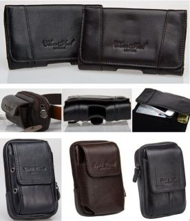 Waist/Fanny Bags Pack Mobile Genuine Leather Pocket Pouch Belt Loops